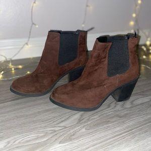 H&M dark brown suede ankle boots